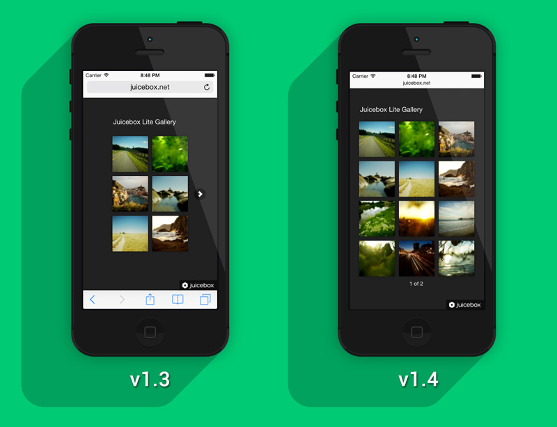 Juicebox iPhone Layout Comparison